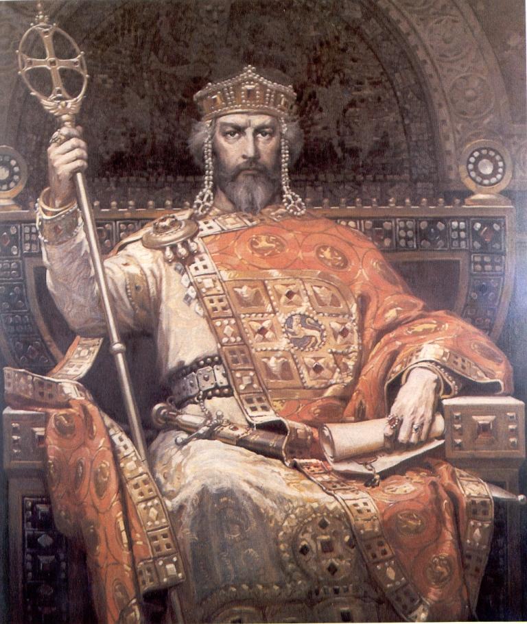 Портрет на цар Симеон по Димитър Гюдженов